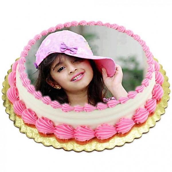 1kg Photo Cake Pineapple Flowerscakesonline Com