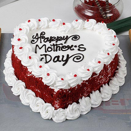 Heart Shaped Mothers Day Cake 1kg