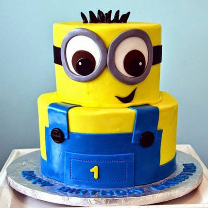 2 Tier Minion Cake 3kg
