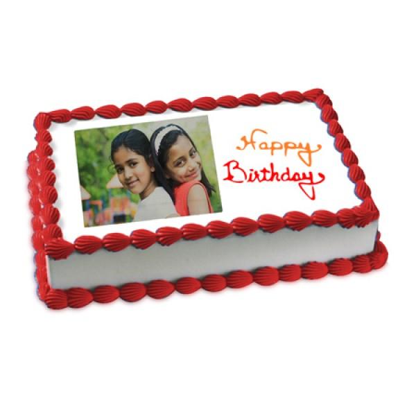 Happy Birthday Photo Cake 2kg Flowerscakesonline
