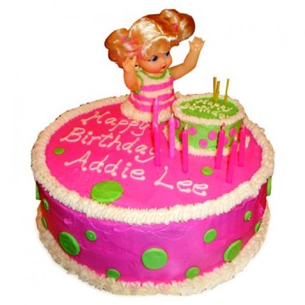 Pink Doll Birthday Cake 2kg Flowerscakesonline Com