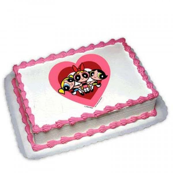 Powerpuff Girls Photo Cake 1kg: FlowersCakesOnline com