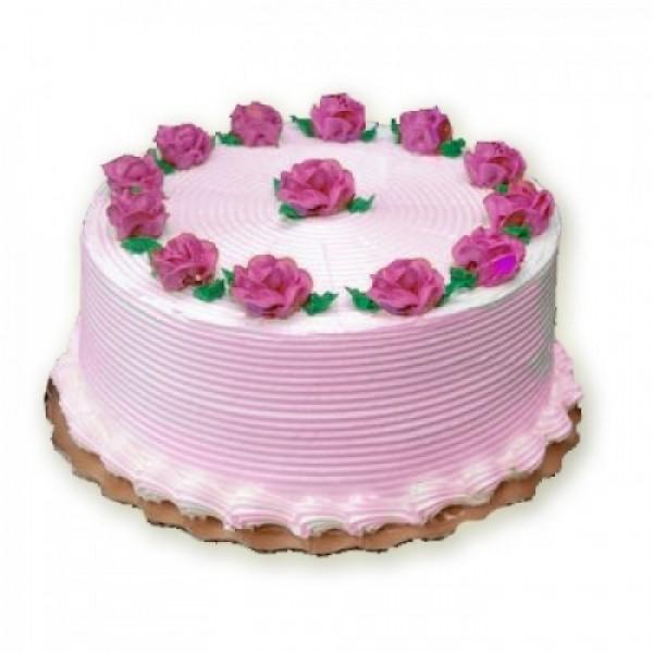 1 Kg Strawberry Cake 5 Star Bakery